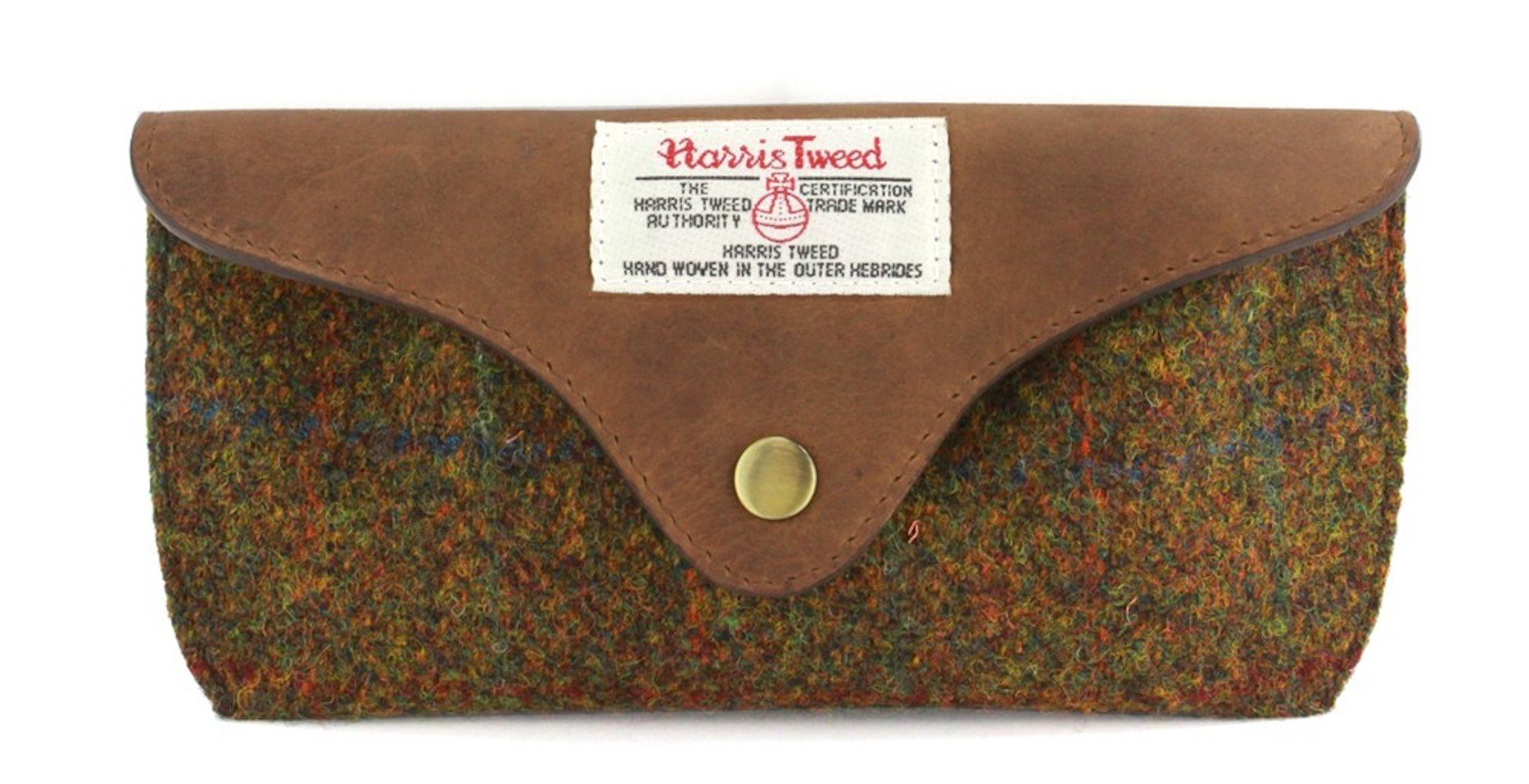 Ladies or Gents Harris Tweed Glasses Case (Tan) by MMS