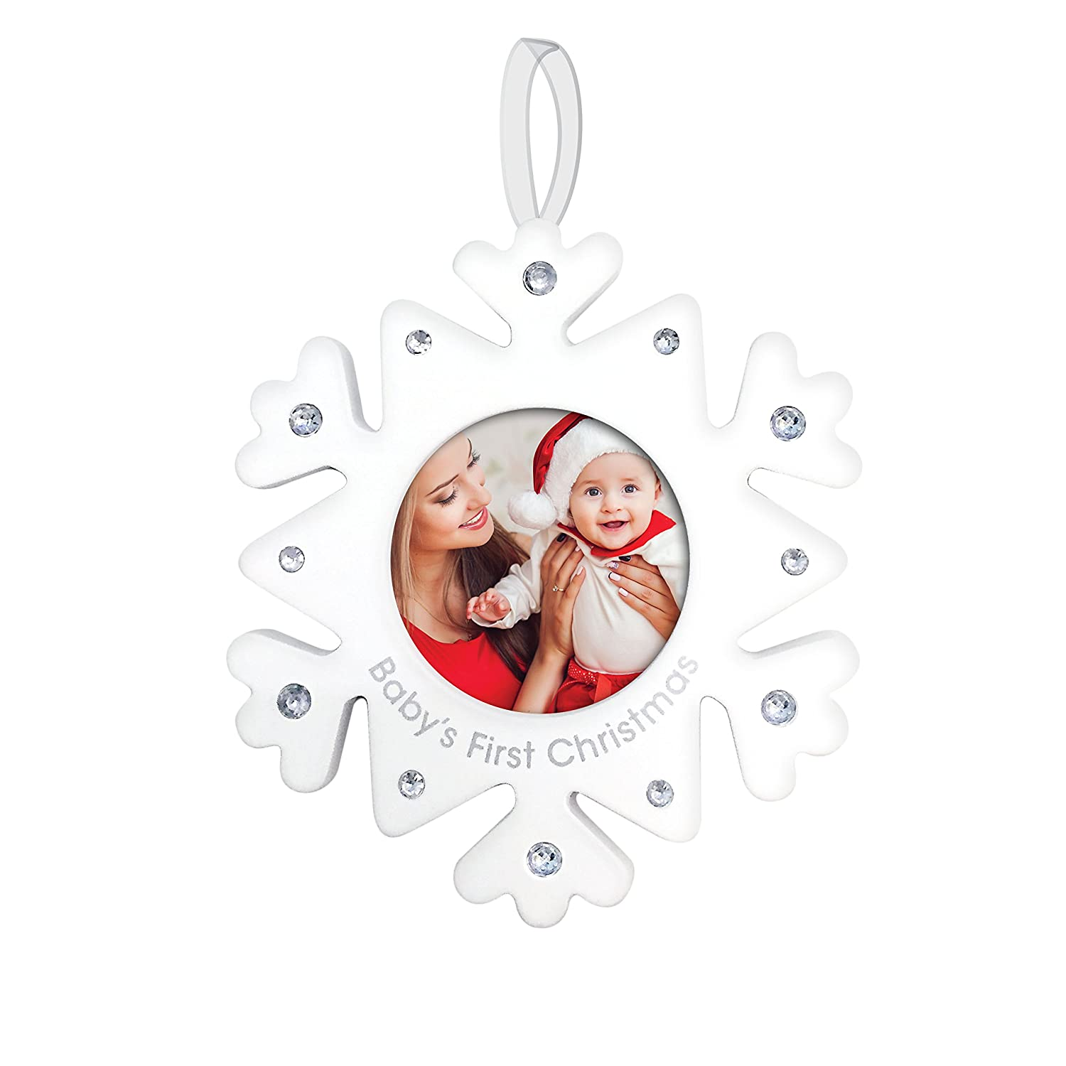 Tiny Ideas Rhinestone Snowflake Holiday Ornament, Baby's First Christmas Baby' s First Christmas Pearhead Inc 98043