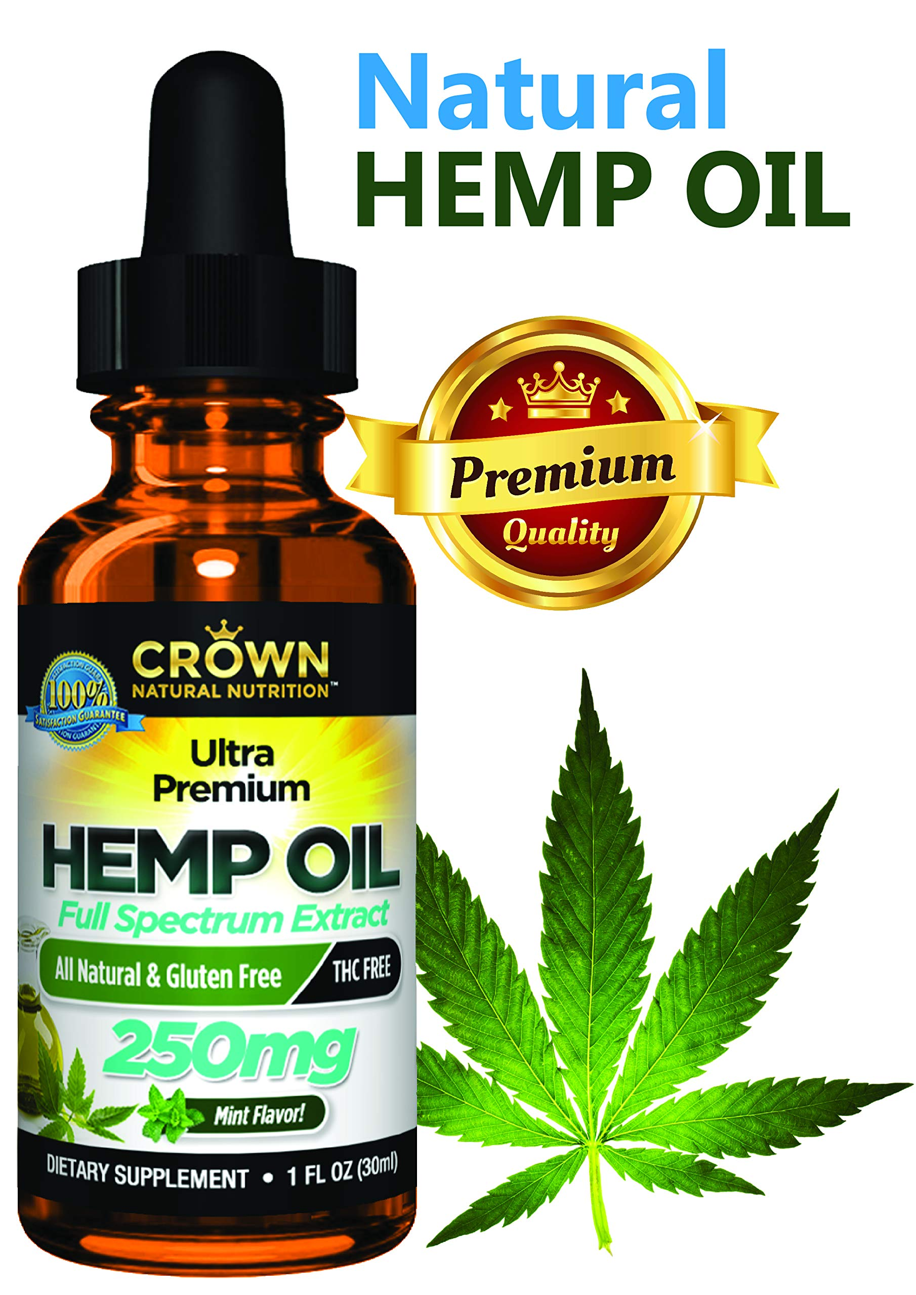 Hemp Oil for Pain & Anxiety, Full Spectrum Hemp for Stress, Sleep & Mood, Joint Pain, Skin Health, Inflammation, Omega 3 6 9