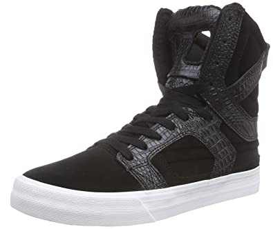 f9a22e82658 Amazon.com | Supra Mens Skytop II Black White Suede Trainers 10.5 US | Shoes