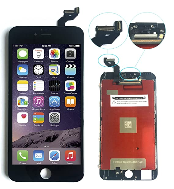 sports shoes 08777 aa9d1 Black iPhone 6s Plus Screen Replacement for LCD Display Touch Screen  Digitizer Frame Assembly Set-5.5 inch (Model: A1634, A1687, A1699)