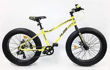 Bicicleta Fat Bike de 24 pulgadas, marco de aluminio, frenos de ...