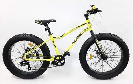 Bicicleta Fat Bike de 24 pulgadas, marco de aluminio, frenos de doble disco, equipada con 6 velocidades Shimano y mango de palanca de cambio Rapid Fire STEF41 Shimano: Amazon.es: Deportes y aire