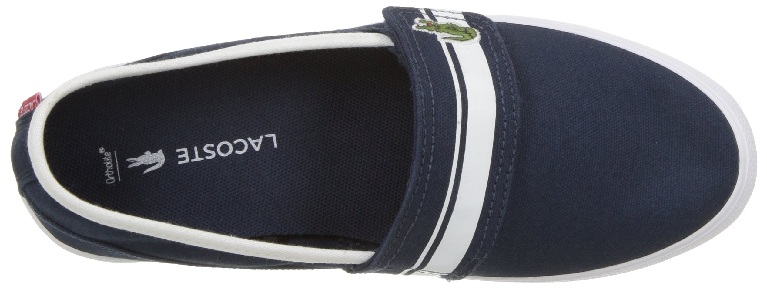 Lacoste Kids' Marice Slip-ONS,Navy/White Cotton Canvas,13. M US Little Kid by Lacoste (Image #7)
