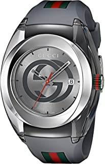 Gucci Swiss Quartz Stainless Steel and Rubber Casual Grey Mens Watch(Model: YA137109)
