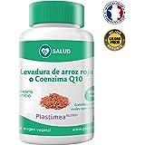 LEVADURA ROJA DE ARROZ + COENZIMA Q10 - Eficaz Reductor de Colesterol - Dosis Concentrada Natural - 100% Puro - Programa de 3 meses 600 mg 90 capsulas Gastro-Resistentes de Origen Vegetal - Fabricado en Francia