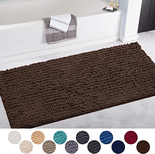 "24x16/"" Colored Pet Paws Non-Slip Bathroom Mat Rug Home Decor Door Floor Carpet"
