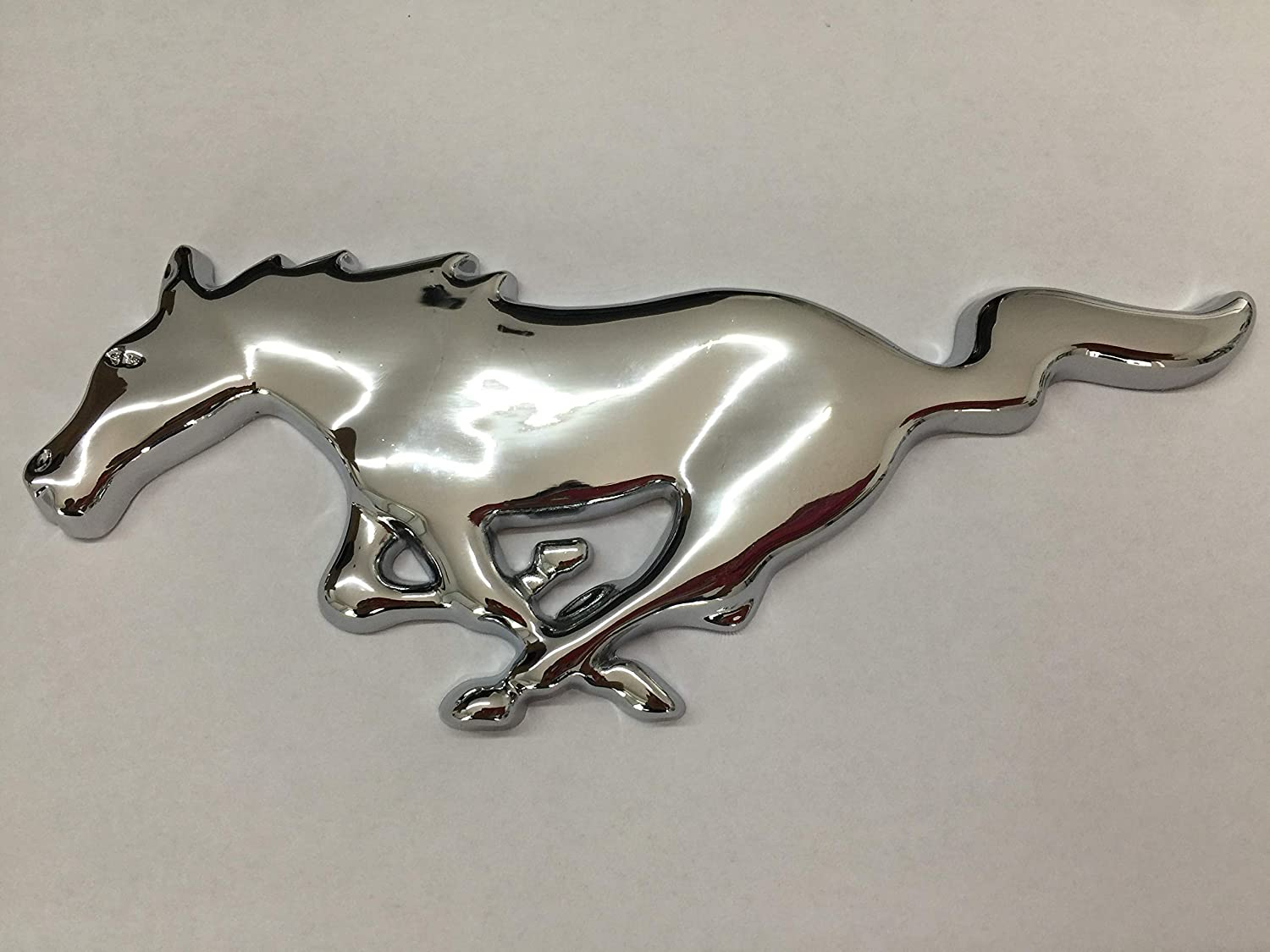 Chrome Metal Front Grille Running Horse Emblem Badge Running Horse Pony Emblem Fits Ford Mustang GT