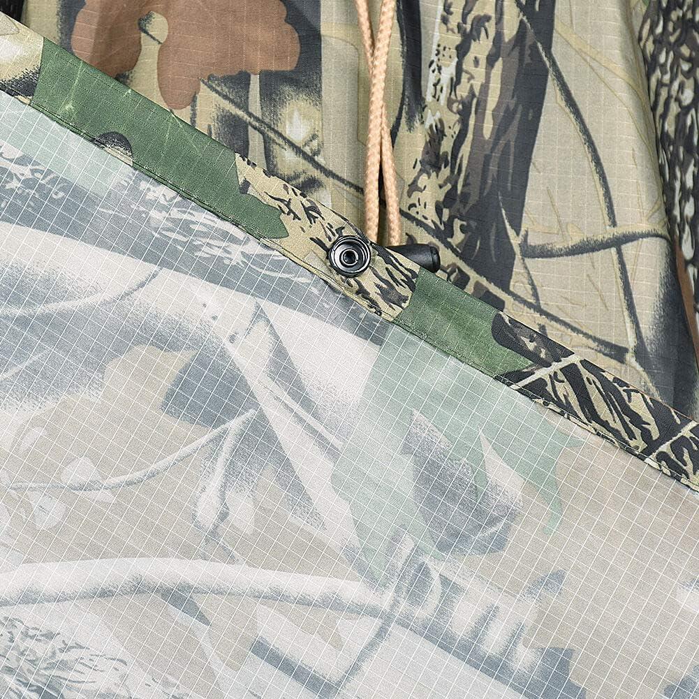 LOOGU Leichter Regenponcho mit Kapuze Wasserdicht Atmungsaktiv Multifunktion Unisex Regenmantel f/ür Freizeit Jagd Angeln Camping Camouflage Regenjacke Tarnmantel