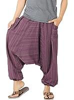 CandyHusky 100% Striped Cotton Summer Baggy Boho Aladdin Hippie Yoga Harem Pants