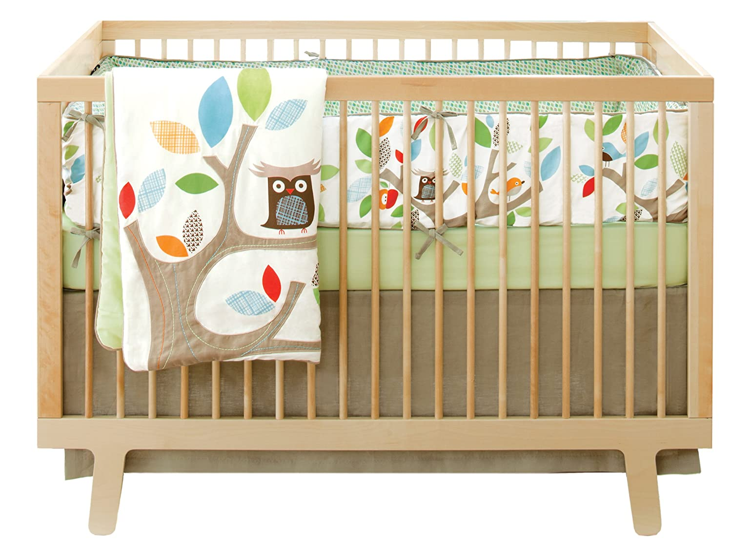 amazon com skip hop baby treetop friends crib bedding set multi
