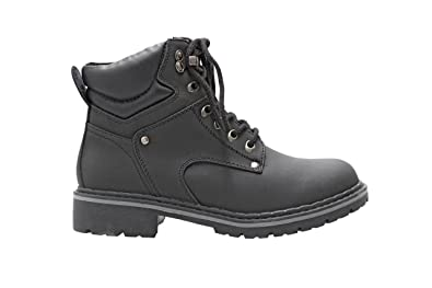 37977cba940 Forever Broadway-5 Women s Military Combat Lace Up Padded Cuff Martin Boot  Slip-Resistant