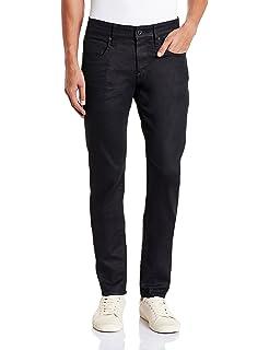 d827f499 G-Star Raw Men's Revend Super Slim-Fit Jean In Black Print Stretch Denim