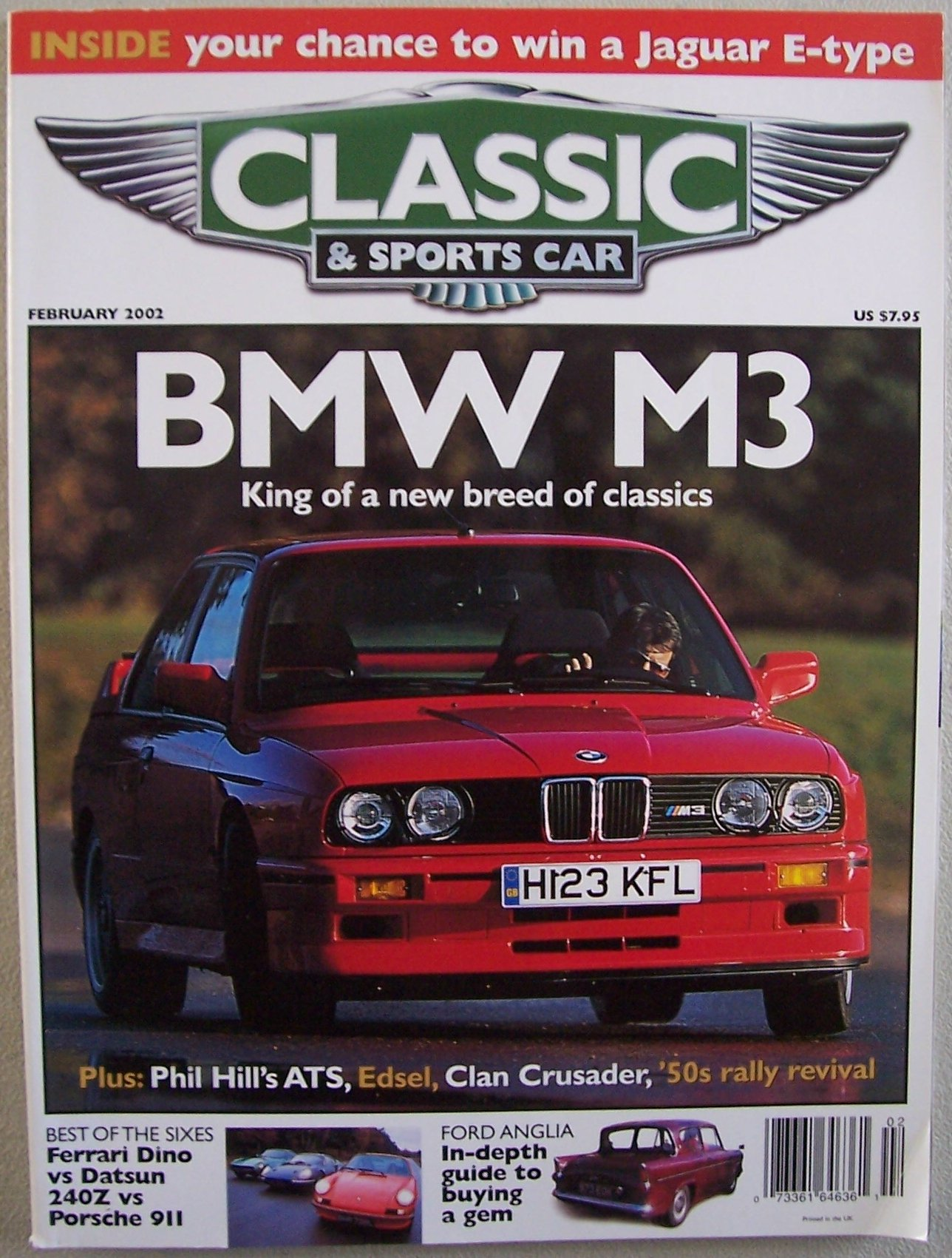 Good Classic U0026 Sports Car, February 2002, Vol. 20 No. 11 (BMW M3   A Classic  Road And Track King, Dino Vs 911 Vs 240Z, Ford Edsel, Clan Crusader, ATS,  ...