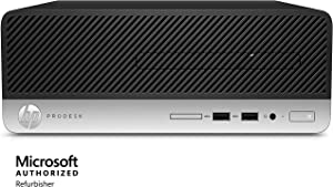 HP ProDesk 400 G4 Desktop Small Form Factor Business PC, Intel Quad-Core i5-6500 up to 3.6G,8G DDR4,512G SSD,VGA,DP,Win 10 Pro 64 bit-Multi-Language Support English/Spanish (Renewed)