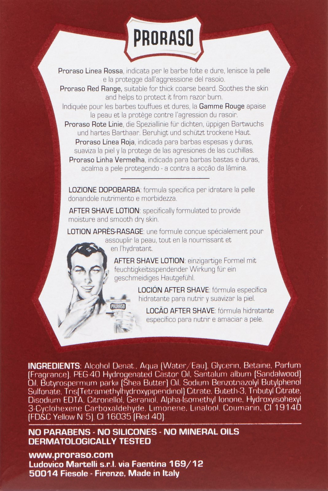 Proraso After Shave Lotion, Moisturizing and Nourishing, 3.4 fl oz by Proraso (Image #2)