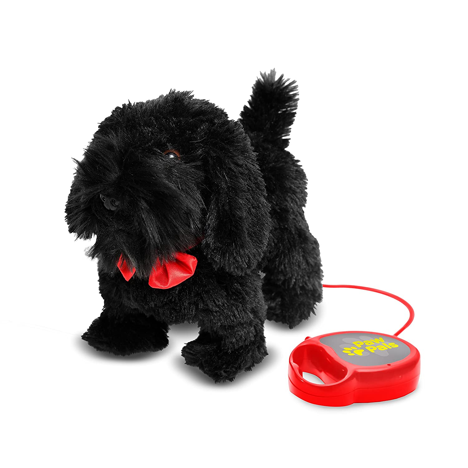 Meva PawPals Kids Walking and Barking Puppy Dog Toy Pet with Remote Control Leash … Black