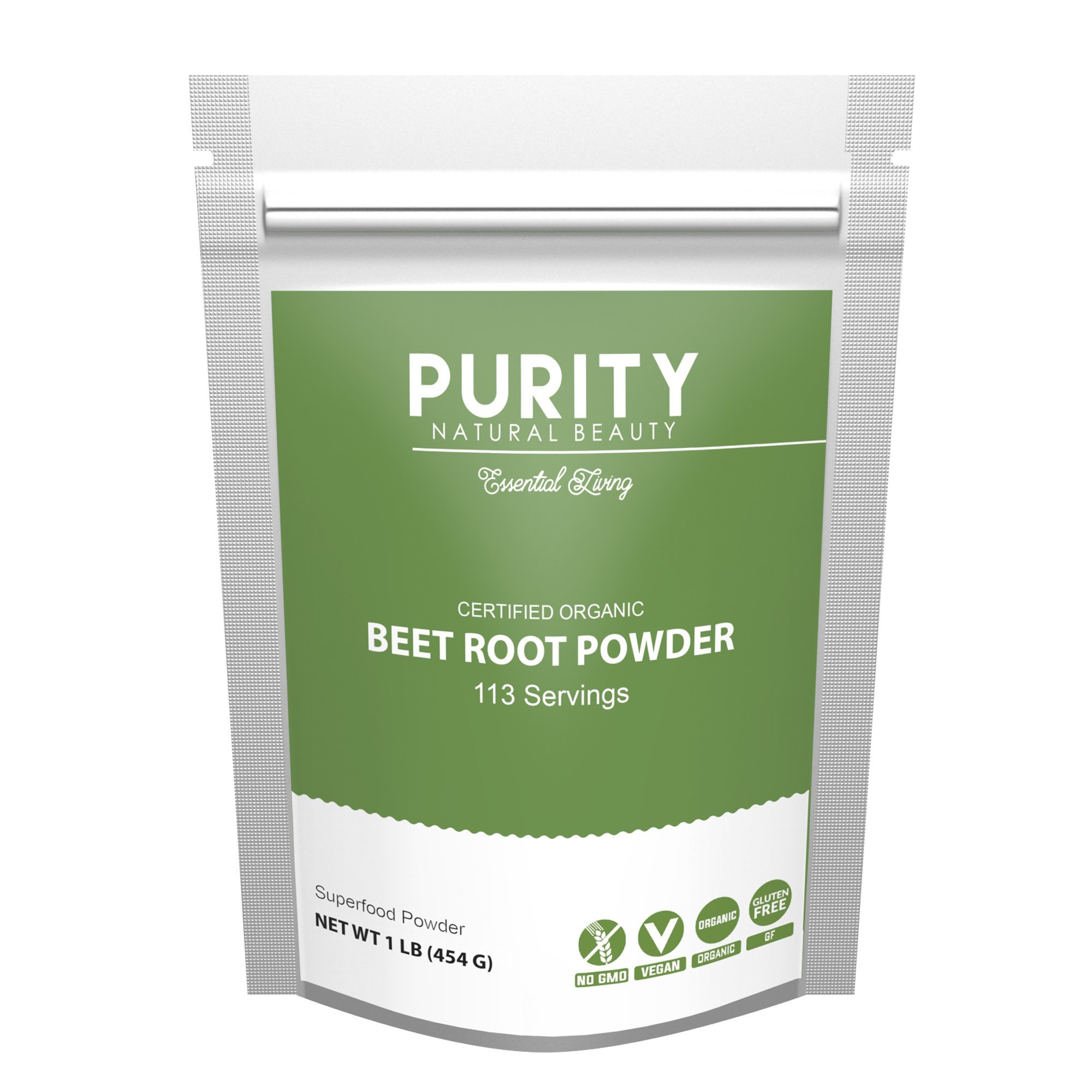 Organic Beet Root Powder - Beetroot Extract (1LB) - Beet Root Juice Supplements rich in Nitric Oxides for Energy Booster, Super Beats Flavor for Delicious Smoothie, Vegan Friendly, Water Soluble