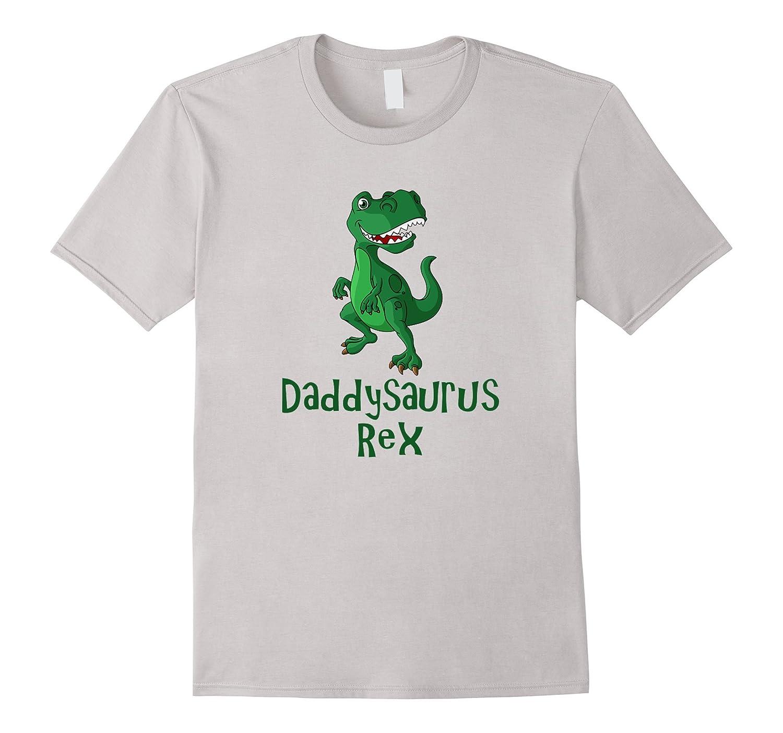 Mens Mens Daddysaurus Rex  Funny Dinosaur T-Shirt for Dad-RT