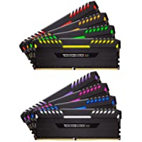 Corsair Vengeance RGB - Kit de Mémorie Enthousiaste (128Go (8x16Go), DDR4, 3800MHz, C19, XMP 2.0)  - Noir