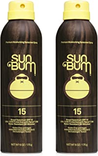 product image for Sun Bum Sun Bum Original Spf 15 Sunscreen Spray Vegan and Reef Friendly (octinoxate & Oxybenzone Free) Broad Spectrum Moisturizing Uva/uvb Sunscreen With Vitamin E 2 Pack