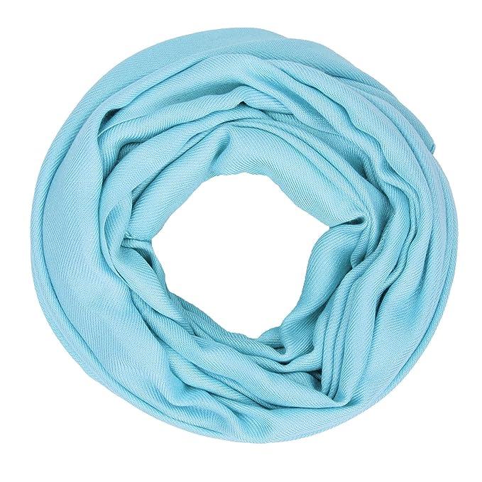 Soyeux Écharpe Pashmina Solide Châle Femmes amour Mode Soie Aqua Bleu 6070acf752c