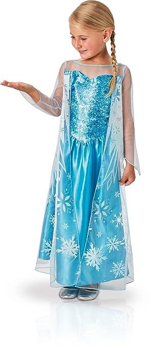 Rubies 620975-M - Disfraz de Elsa para niña, M (5-6 años)