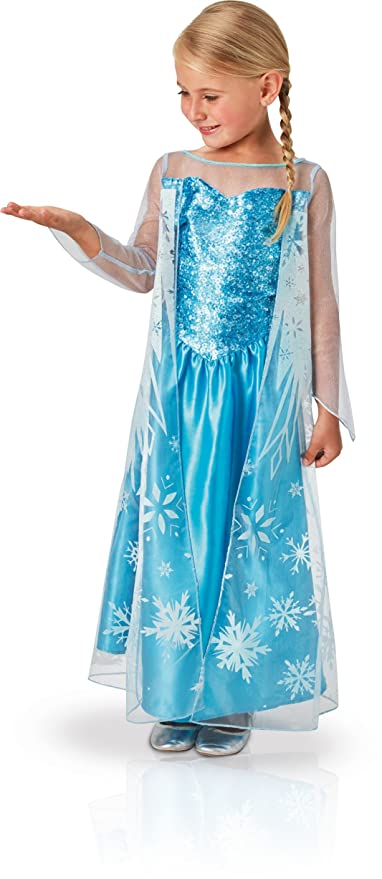 Rubies 620975-S - Disfraz de Elsa para niña, S (3-4 años)