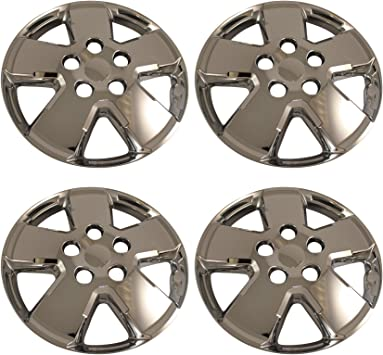 "Metallic Silver 4pcs Set #026 16/"" Inches Hubcaps Hub Cap Wheel Cover Rim Skin"