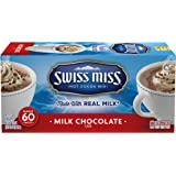 Swiss Miss Hot Cocoa Mix, Milk Chocolate, 0.73 Ounce Envelopes, 60-Count