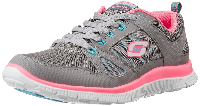 Skechers Flex Appeal-Adaptable, Zapatillas de Deporte Exterior para Mujer 36 EU|Gris (Gynp)