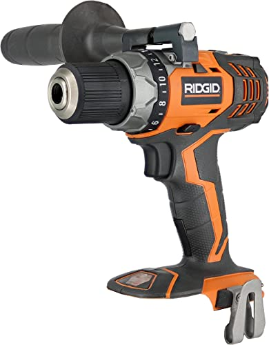 Ridgid Fuego R86008 18V Lithium Ion 1650 RPM Cordless Compact 2 Speed Drill Driver with LED Grip Light and Keyless Chuck Battery Not Included, Power Tool Only Renewed