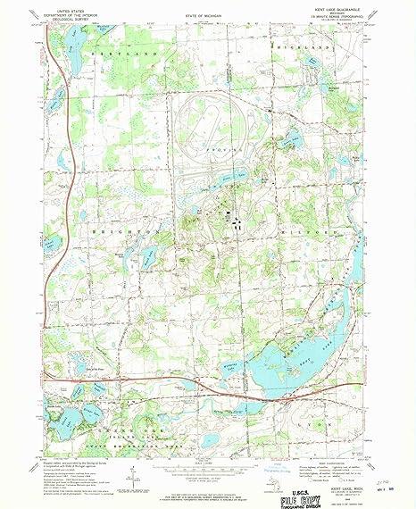 kent lake michigan map Amazon Com Yellowmaps Kent Lake Mi Topo Map 1 24000 Scale 7 5 kent lake michigan map