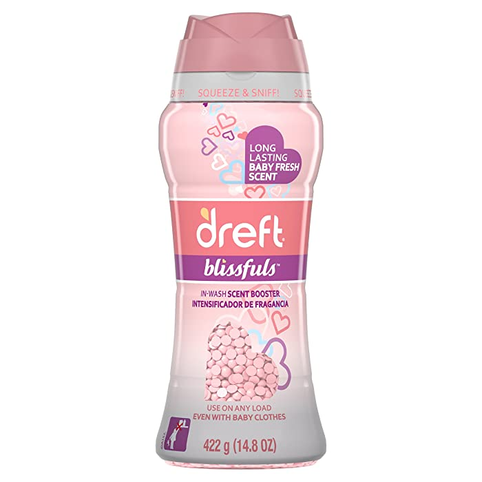 Dreft Blissfuls in-Wash Scent Booster Beads, Baby Fresh, 14.8 Ounce