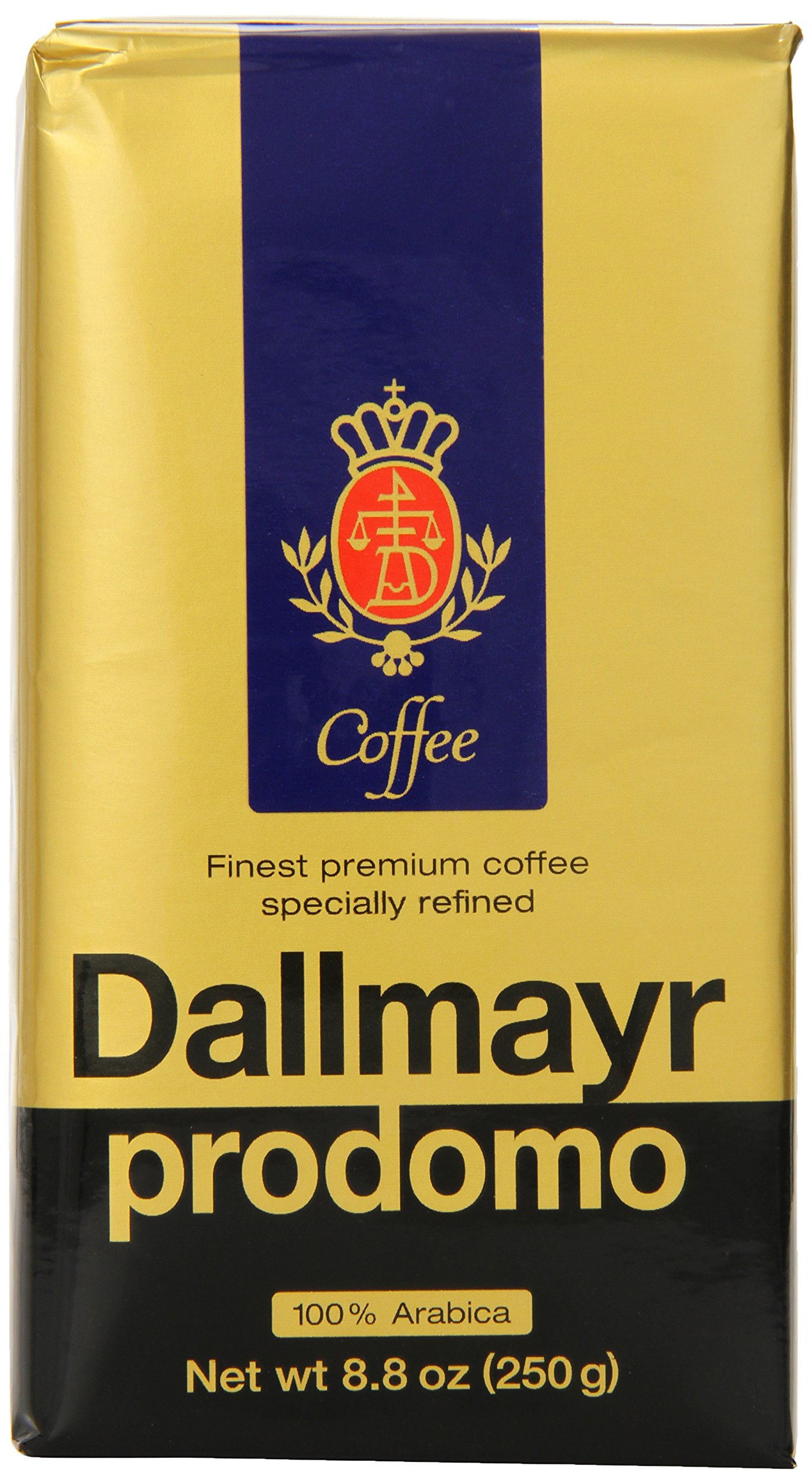 Dallmayr Gourmet Coffee, Prodomo (Ground), 8.8-Ounce Vacuum Packs (Pack of 3) by Dallmayr