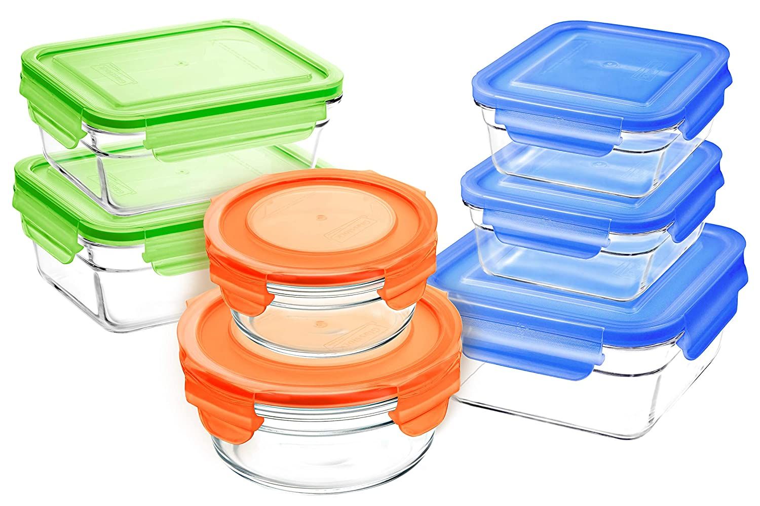 GlassLock 11372 14pc Set Food Storage Container