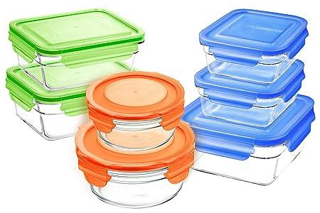 Snaplock - Juego de recipientes de almacenamiento con tapa de ...