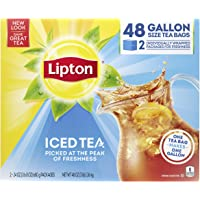 48-Count Lipton Gallon-Sized Black Iced Tea Bags, Unsweetened