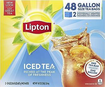 48-Count Lipton Gallon-Sized Black Iced Tea Bags, Unsweetened