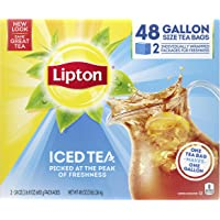 Lipton Gallon-Sized Iced Tea Bags Picked At The Peak of Freshness Unsweetened Can Help Support a Healthy Heart 48 Oz 48…