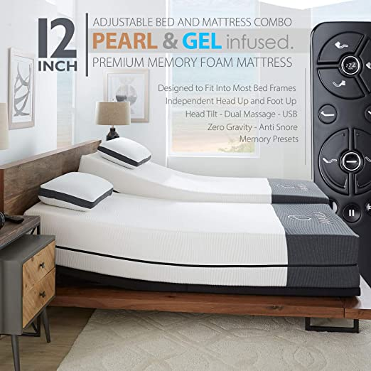 Amazon Com Ananda 12 Pearl And Cool Gel Infused Memory Foam