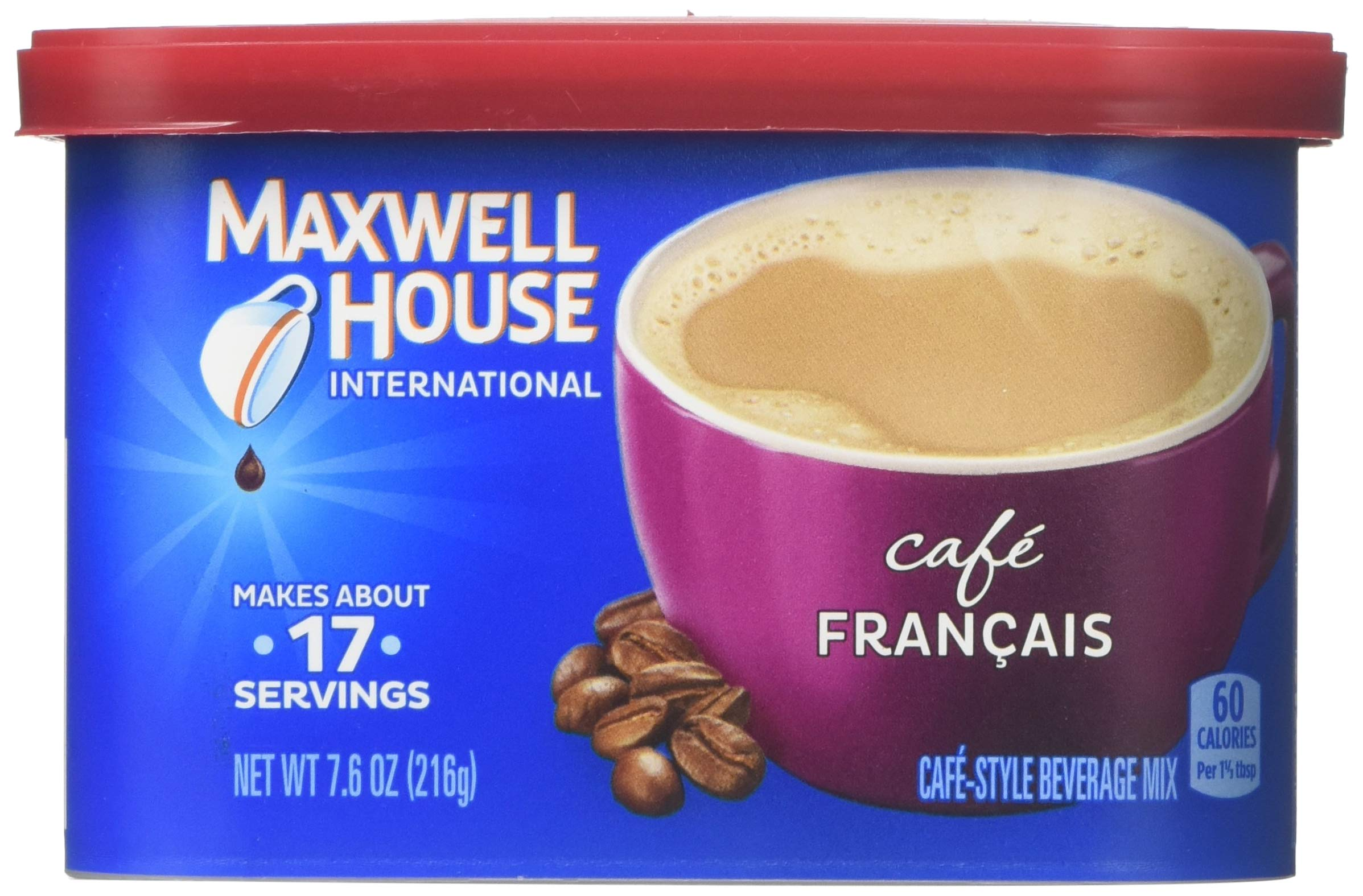 Maxwell House International Coffee Cafe Francais, 7.6-ounce Cans (Pack of 3)