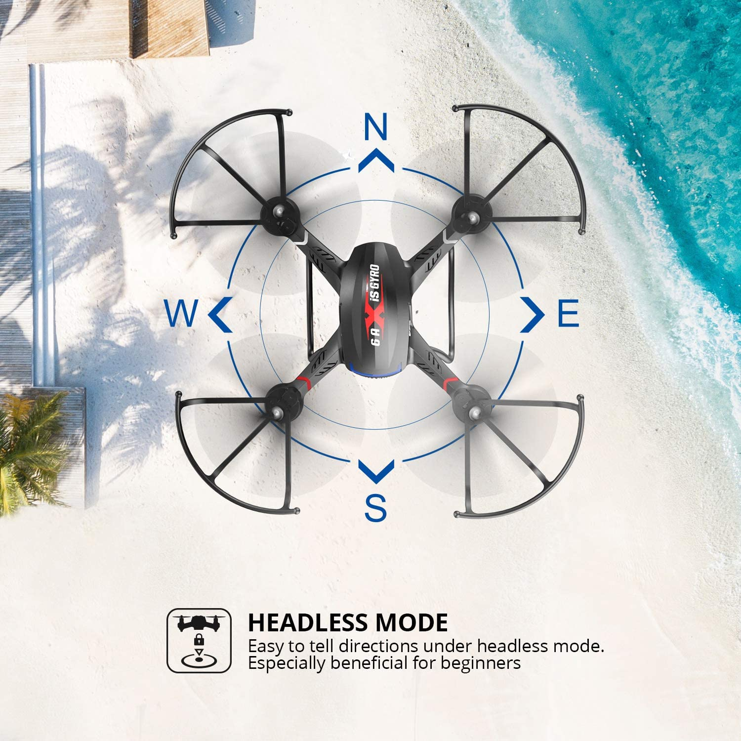 Holy Stone F181W WIfi Fpv Drone review about headless mode feature