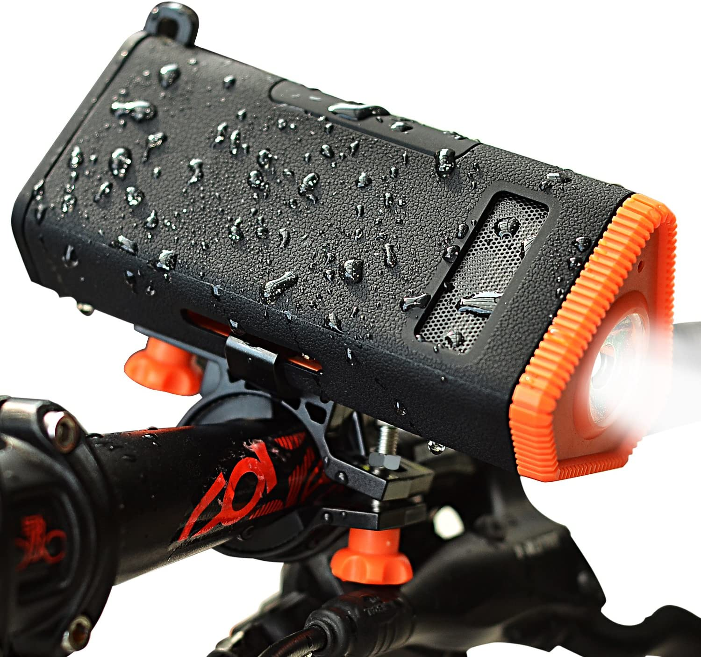 Luz recargable multifunción para bicicleta, de Kmashi, altavoz ...
