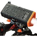 KMASHI Wireless Bici Altoparlante V4.0 Impermeabile Doccia Speaker 4800mAh Batteria Esterna e Supporto da Bici per Torcia a LED per gli Sport Outdoor, Viaggi, Bicicletta, Arrampicata, Trekking