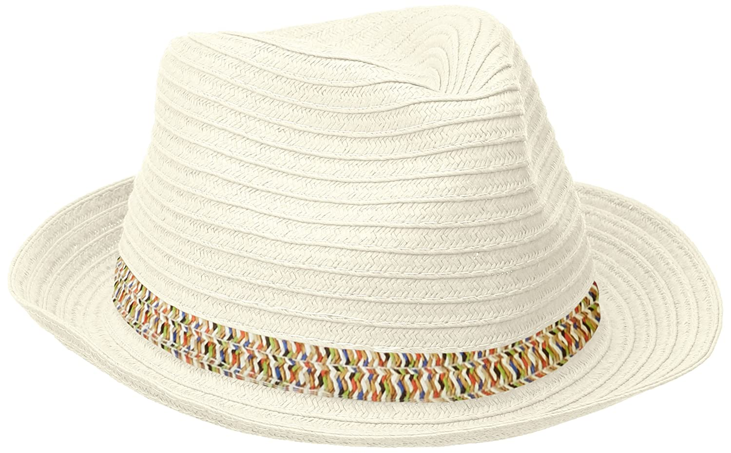 San Diego Hat Company Women's Panama Hat with Contrast Inset Ivory One Size pbf7301