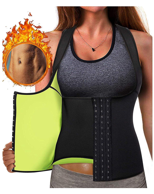 44a46341879b0 Gotoly Waist Trainer Corset Hot Neoprene Sweat Vest Weight Loss Body Shaper  Workout Tank Tops Women