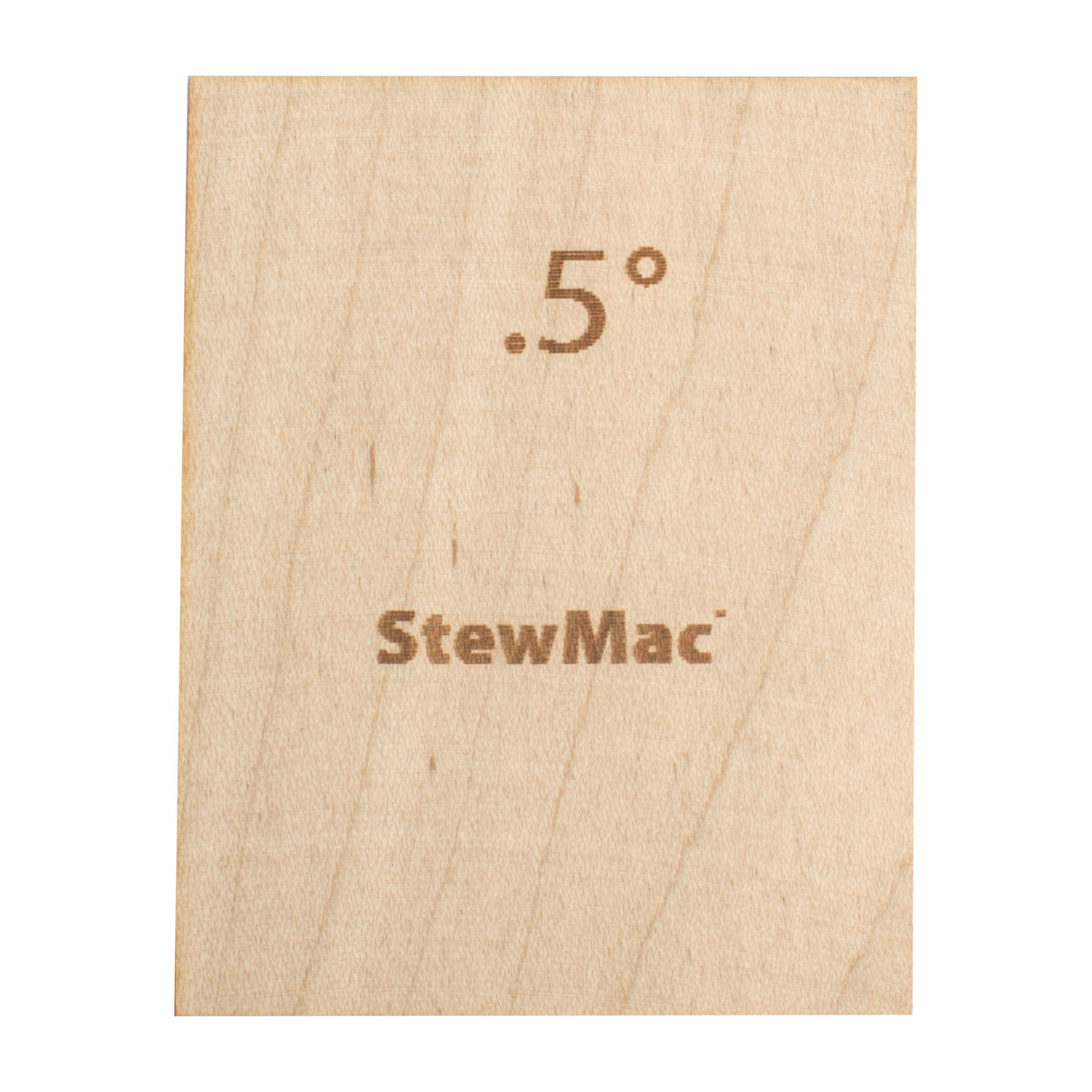 StewMac Neck Shims for Guitar, Blank - 6 Pack of 0.50 Degree Shims by StewMac (Image #1)