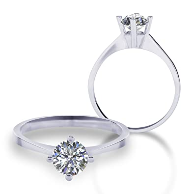1e9aacd443b72 585 white gold solitaire engagement ring with Swarovski VJC24 ...