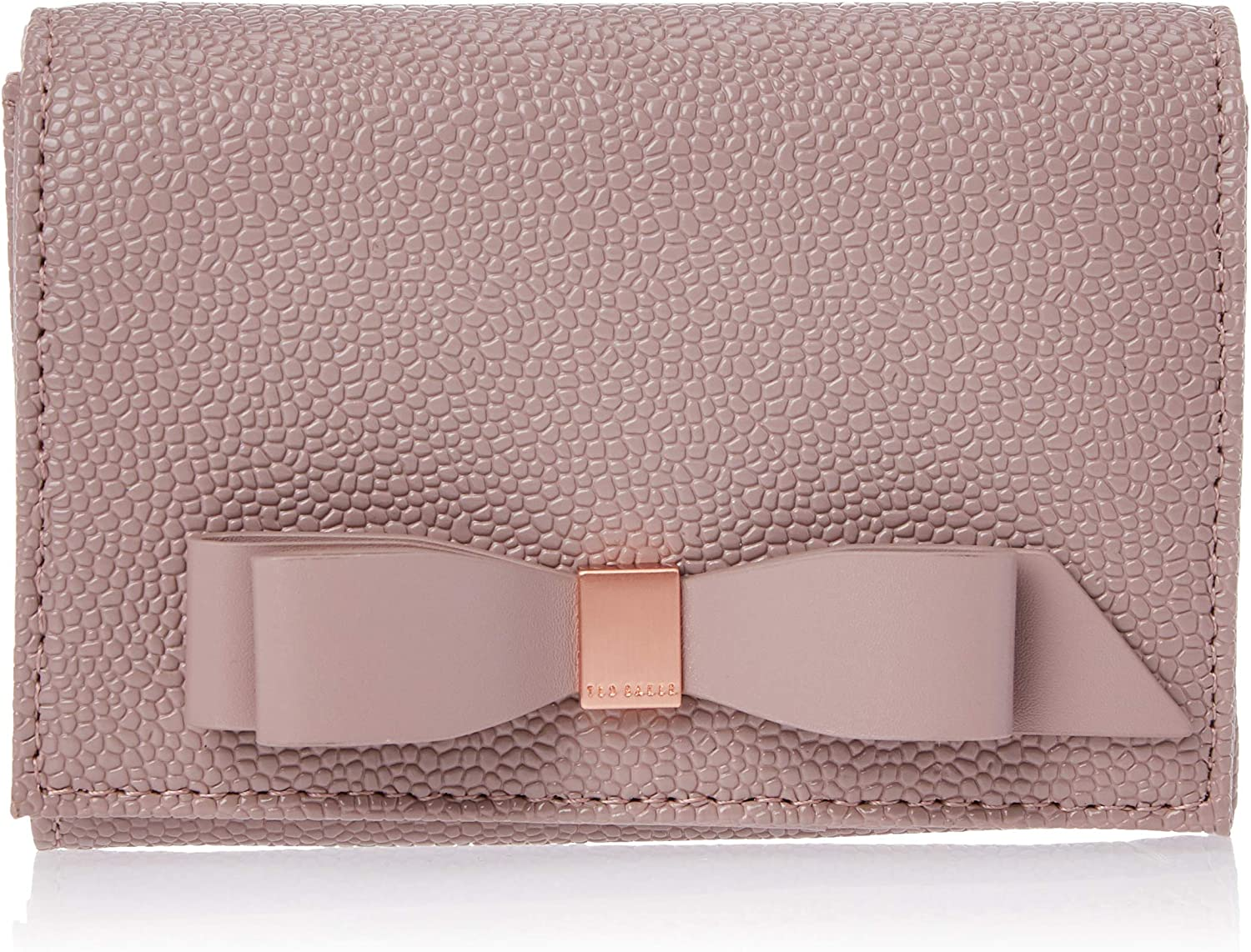 Ted Baker Pink Zipped Jewellery Storage Case with Gold Ted Baker Branded Bow